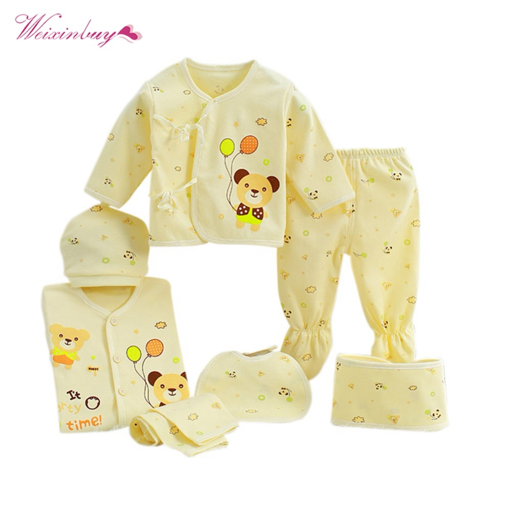 WEIXINBUY Newborn Baby Clothing Set Fashion 100% Cotton ...