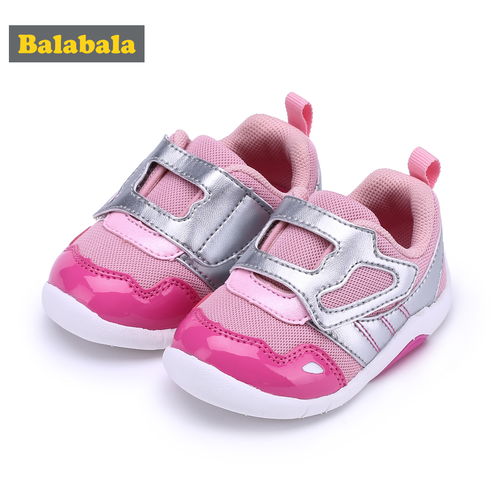 Balabala 2018 New Baby Toddler Shoes Cute Pink Shoes Comfortable Children Footwear First Step Walking Infant Girls Soft Bottom N