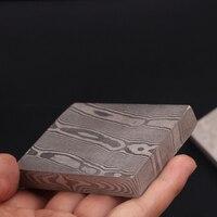 Damascus pattern steel twisted pattern Flat grinding Pickling Belt buckle, watch, hand guard, ball head