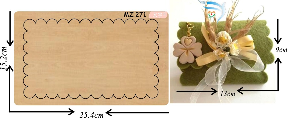 Handmade purse mz271 muyu cutting die new wooden mould cutting dies for scrapbooking Thickness 15 8mm
