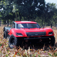Лидер продаж с коротким ходом для грузовых автомобилей, SCTX10 V2 1:10 4WD RC внедорожный супер высокая Скорость 80 км/ч 60A бесщеточный ESC автомобили д