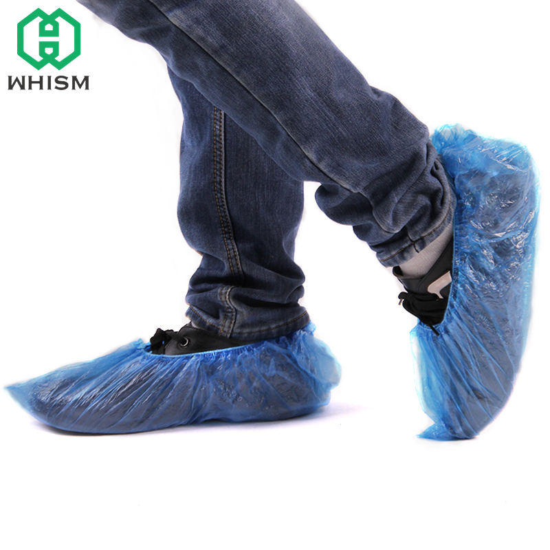 100pcs Plastic Disposable Shoe Covers Carpet Protection Floor Protector Medical Indoor Carpet Floor Fashionable Patterns Emergency Kits