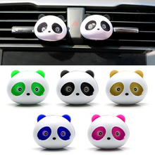1 Pair Cute Panda Eyes Blink Car Air Freshener Car Perfume Diffuser Clip Car Air Vent Clip Light Freshener Essential Oil Perfume