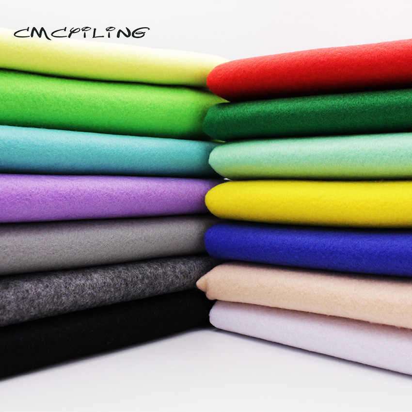 CMCYILING 1.2 MM Thickness Soft Polyester Felt Farbric For Needlework Sewing Felts Crafts Dolls Nonwoven  45CM*110CM