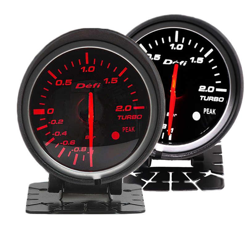 Df BF 60 مللي متر دفعة مقياس توربو مقياس مع الأحمر والأبيض ضوء لفورد موستانج أودي TT S3 A3 03-06 سيات ليون EP-BF60001-BOOST