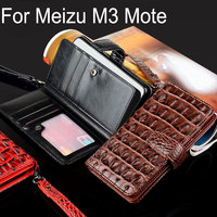 For Meizu M3 Note Case Luxury Crocodile Snake Leather Flip Business Style Wallet Phone Cases For