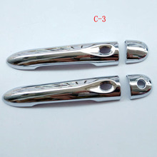 Free shipping For Renault Clio 2013 2015 door handle cover ABS Chrome 4pcs car accessories