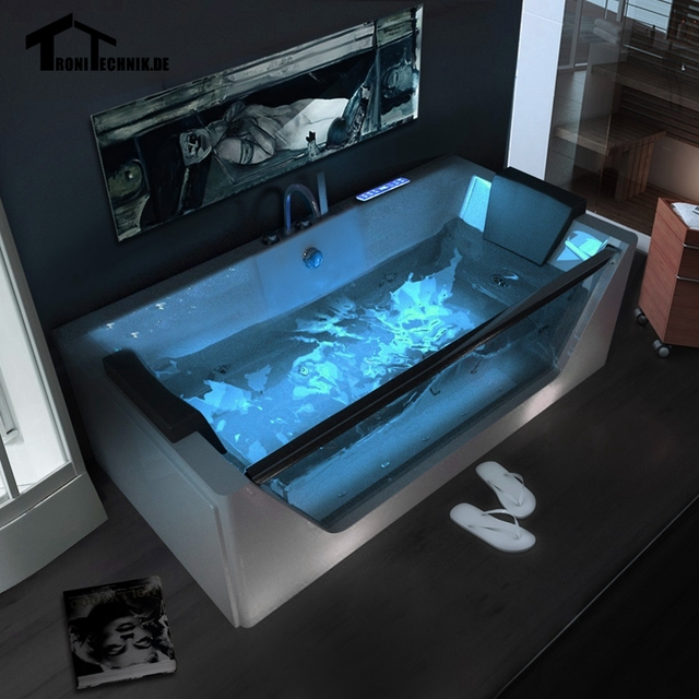 1700mm Whirlpool Bath tub Shower spa freestanding Air Massage ...