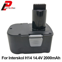14.4V 2000mAh Ni CD DA 13 / 14.4E Power Tool Replacement Battery Cordless Drill for Interskol 14.4v H14