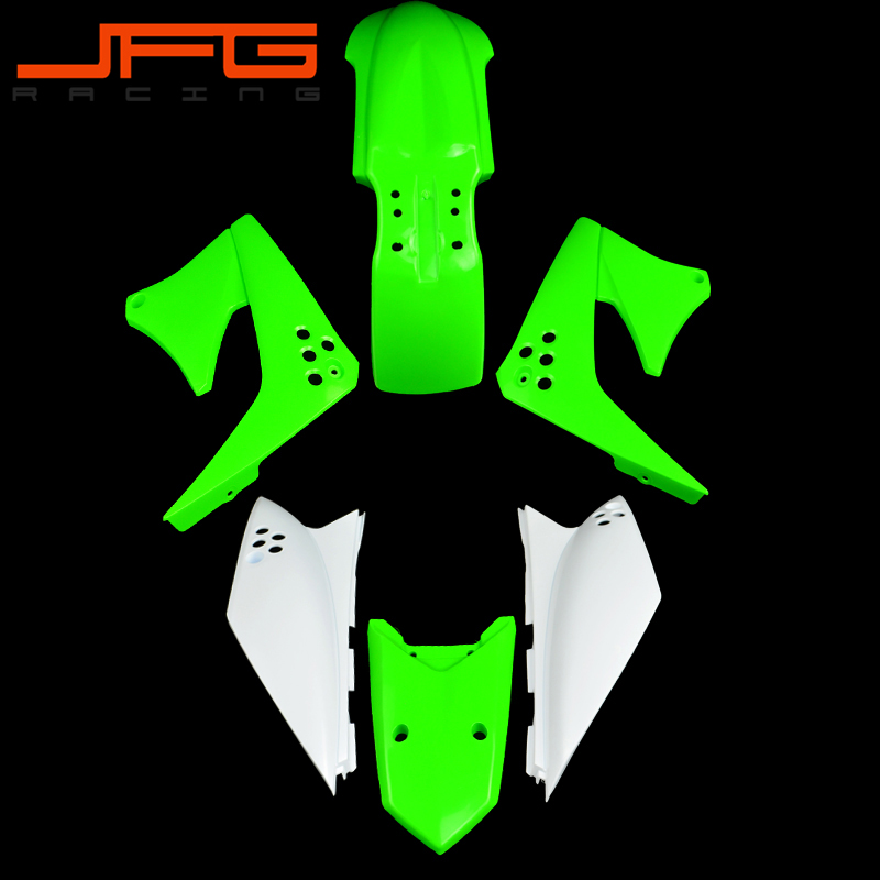 Motorcycle Plastic Cover Fender Mudguards Set For KAWASAKI KLX150S KLX150 S 2009 2010 2011 2012 cover set pierre cardin cover set