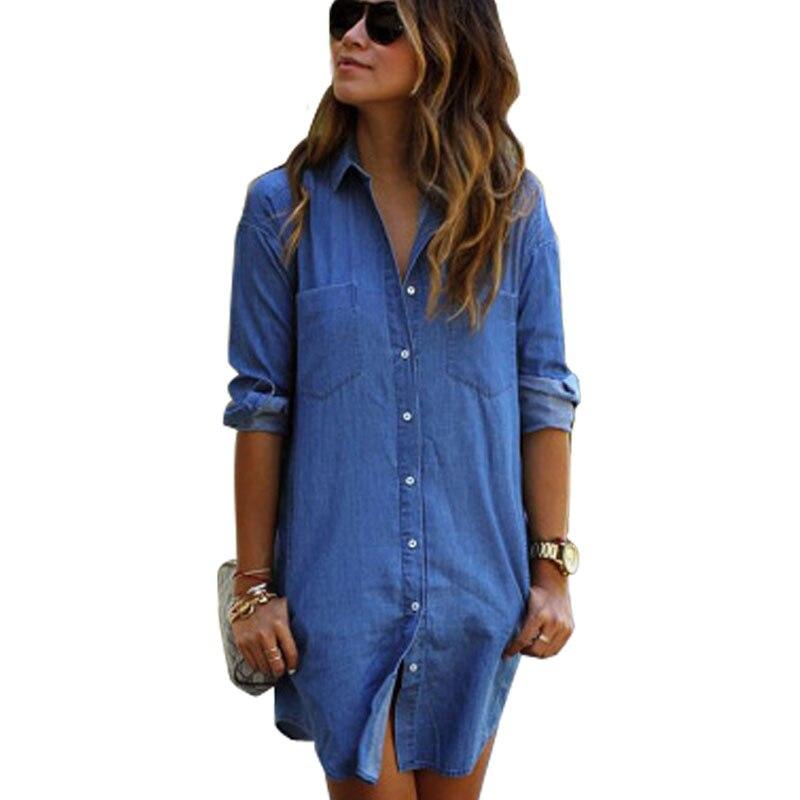 Aliexpress.com : Buy Fitted Denim Shirts Women Long Boyfriend