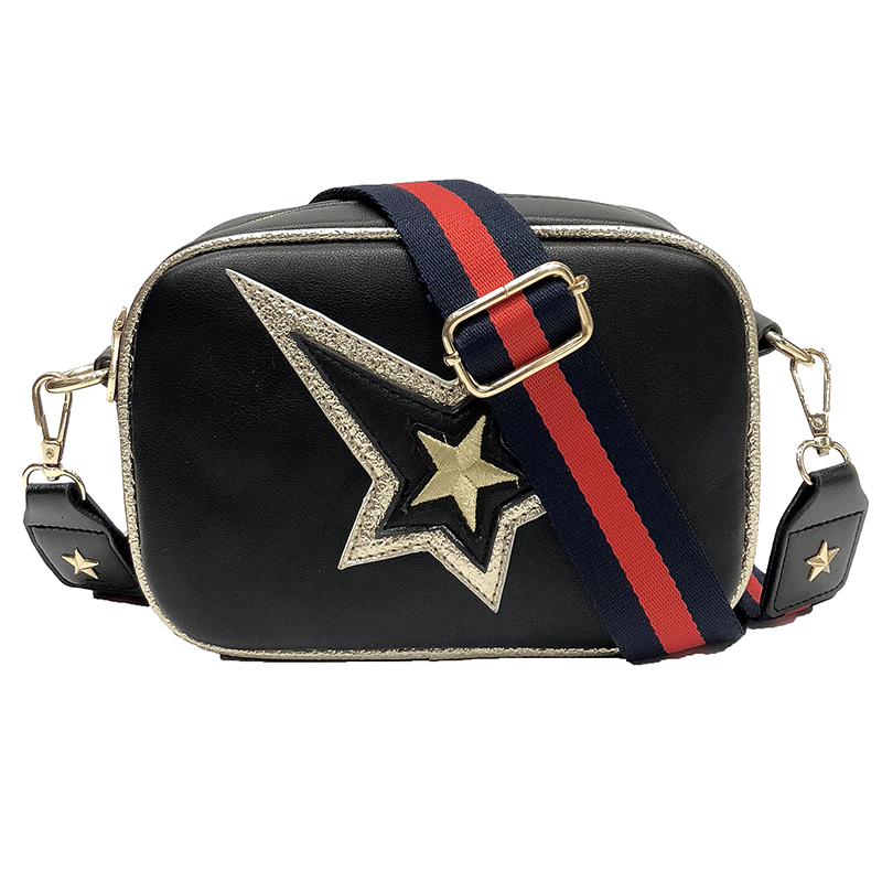 Stars Embroidery Women Messenger Bag High Quality Pu Leather Shoulder Bags Casual Totes light colorful ceiling lights restaurant creative children s room bedroom balcony corridor lamp shell ceiling lamp za
