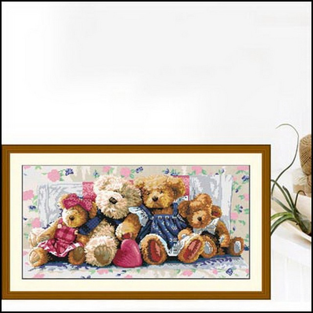 Por dhl o ems 30 unids familia de osos patrón de la puntada de ...