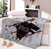 Dropship Game of Thrones Christmas Throw Blanket Printed Diy Plaid Throw Flannel Winter Travel Blanket for Beds