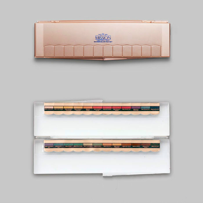 Livraison gratuite MIJELLO or chargement solide aquarelle Pigment 24 couleurs/ensemble collocation or Rose pare-balles Palette de verre