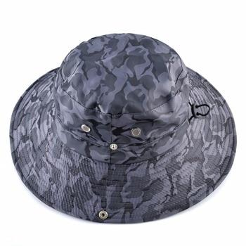 Camouflage Sun Hats For Men Summer Wide Brim Bucket Hat Women Anti-UV Beach Caps Men's Fishing Hunting Bob Cap Visor Chapeu bone 2