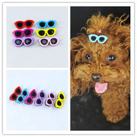 Dog Hair Accessories 10pcs Lot Small Dog Sunglasses Bows Pet Sunglasses Hairpin Dog Hair Clip Pets