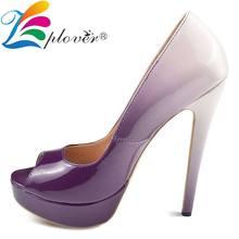 Fashion Women Pumps High Heels Shoes Woman 12cm Extreme Thin Heels Ladies Shoes Comfortable Platform Pumps Sapato Feminino цена