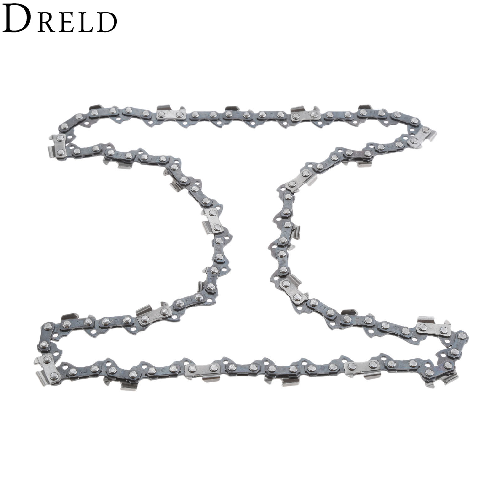 DRELD Metal Chainsaw Chain Blade 3/8 Pitch Sharp Blade Quickly Cut Wood For Stihl 009 010 017 019 023 MS170 MS180 16 size chainsaw chains 3 8 063 1 6mm 60drive link quickly cut wood for stihl 039