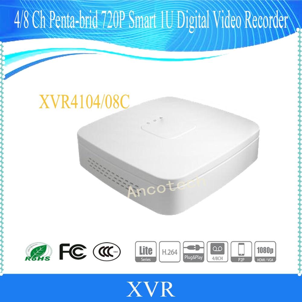 Free Shipping DAHUA NEW Product 4/8 Channel Penta-brid 720P Smart 1U Digital Video Recorder without Logo XVR4104C-S2/XVR4108C-S2 все цены