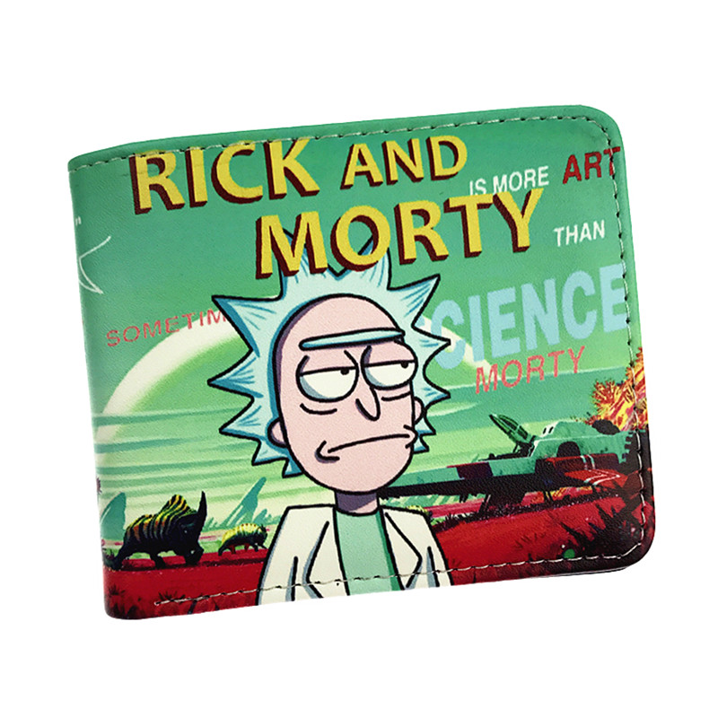 Hot Sell Rick And Morty Anime Cartoon Wallet With Coin Pocket Card Holder Short Purse hot anime wallets overwatch student wallet men and women casual short wallet cartoon fashion coin purse genji hanzo tracer