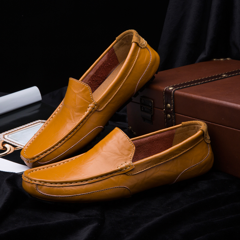 ZDRD Genuine Leather Men Shoes Business Loafers Casual Shoes for Men Soft Breath Flats Shoes Slip on Moccasins Men Driving Shoes handmade genuine leather men s flats casual haap sun brand men loafers comfortable soft driving shoes slip on leather moccasins