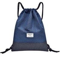 Пляжная сумка для фитнеса на открытом воздухе спортивная сумка с карманом Унисекс Рюкзак мешок с кулиской #