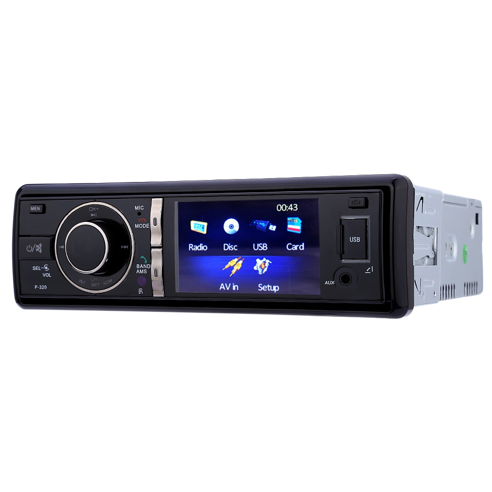 Single DIN 3 inch TFT Screen 12V Car Radio Audio Stereo DVD Player FM Transmitter with IR Wireless Remote Control MTK System steering wheel control car radio mp5 player fm usb tf 1 din remote control 12v stereo 7 inch car radio aux touch screen