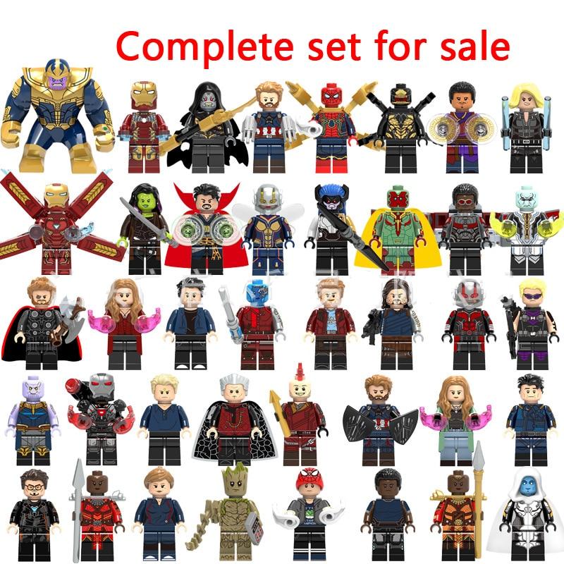 LegoINGly Marvel Super Heroes Avengers Captain Infinity War Of Galaxy Iron Man Spider THOR Hulk Black Panther Thanos Toys Bricks
