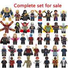 LegoINGly Marvel Super Heroes Avengers Captain Infinity War of Galaxy Iron Man Spider THOR Hulk Black Panther Thanos Toys Bricks(China)