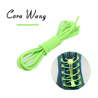 CORA WANG 10Pairs Lot 100cm Multi Color High Elastic Shoelace No Tie Lazy ShoeLaces For Sneaker