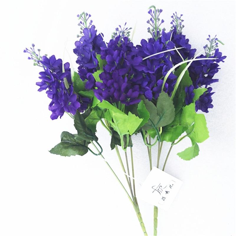 Purple Hyacinth Artificial Flower Bouquet For Wedding Decoration ...