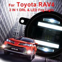 For Toyota RAV4 led fog lights+LED DRL+turn signal lights Car Styling LED Daytime Running Lights LED fog lamps 2006-2012 стоимость