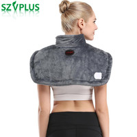 2018 Far infrared electric moxibustionhot moxa heating shoulder vest heated shawl warm winter hot compress neck cervical pad