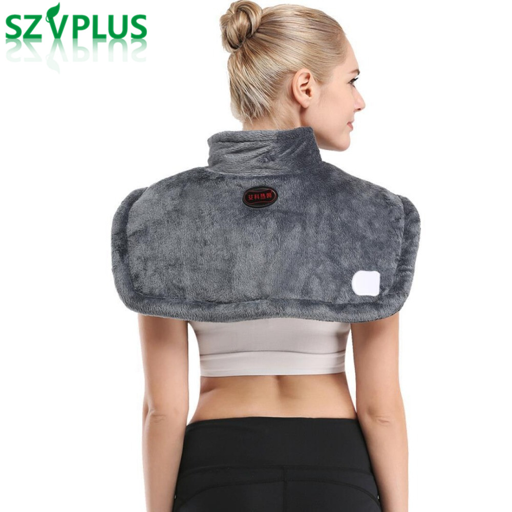 2018 Far infrared electric moxibustionhot moxa heating shoulder vest heated shawl warm winter hot compress neck cervical pad quality physiotherapy electric heating vest back support shoulder pad vest heated shawl suitable for back pain relief