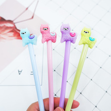 4 pcs/lot Cute Cartoon alpaca Gel Pen kawaii stationery School Supplies Office writting pens paperlaria
