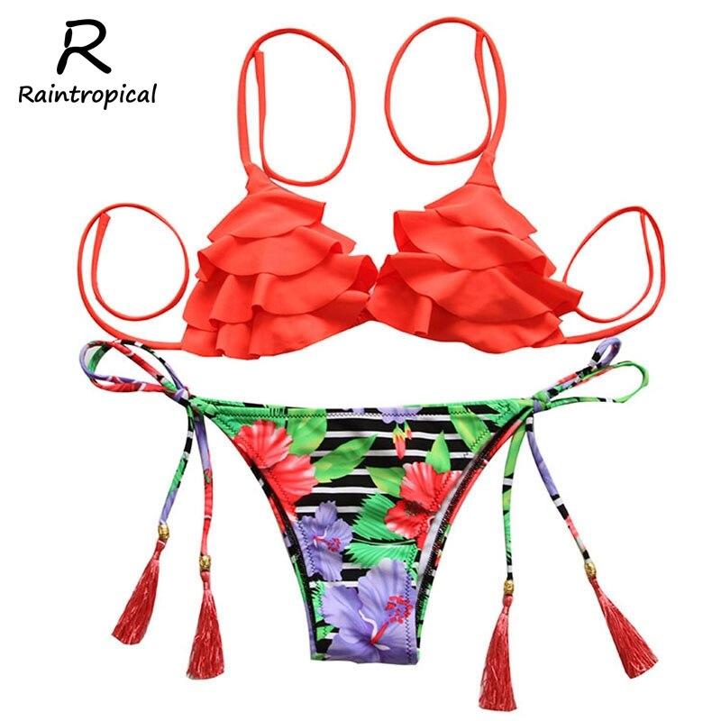 2017 nueva sexy bikinis mujeres traje de baño de talle alto bathi ng trajes traj