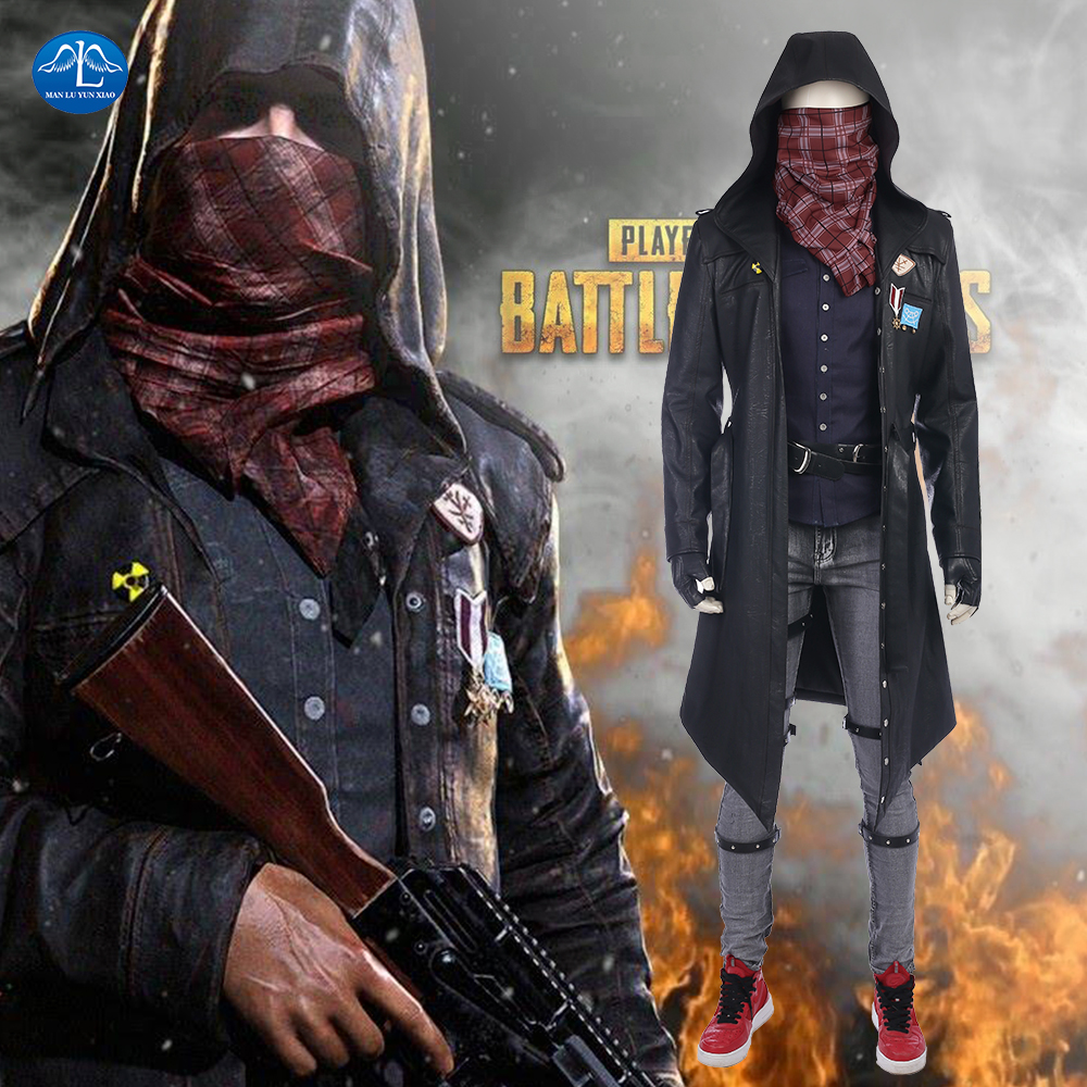 MANLUYUNXIAO New Hot Game PLAYERUNKNOWN'S BATTLEGROUNDS Costume PUBG Cosplay Costume Halloween Costumes For Men Custom Made