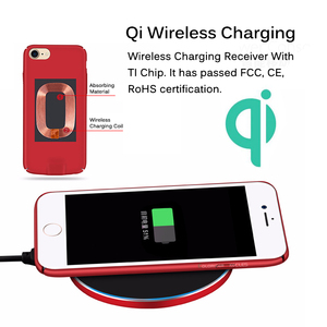 Image 3 - Qi Wireless Charger Receiver Case For iPhone 7 7 Plus 2 In 1 Wireless Charging & Cable Charging Cover For iPhone 6 6s Plus Cases