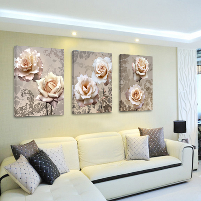 Flower Bedroom Vintage Home Decor Canvas Painting Cuadros