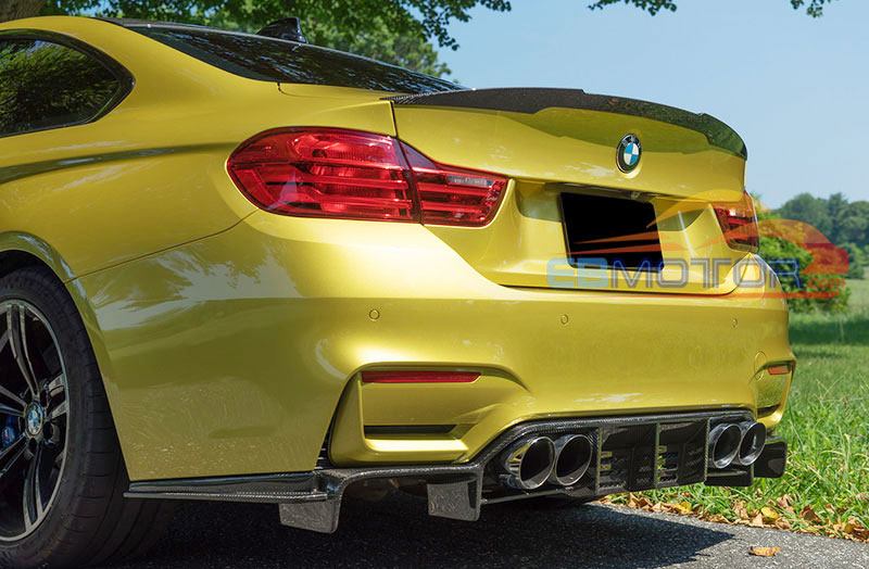 Painted Fiber Glass Rear Diffuser For Bmw F80 M3 F82 F83 M4 2014up