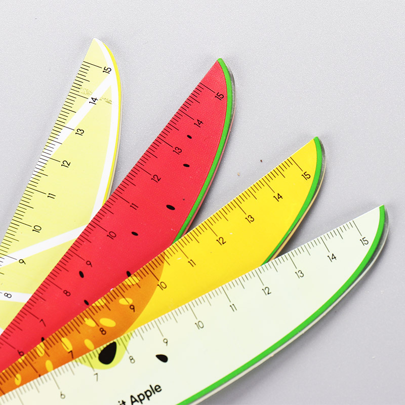 Creative Fruit Watermelon Modelling 15cm Straight Ruler Acrylic Ruler Painting Learning Plastic Ruler School Stationery Supplies