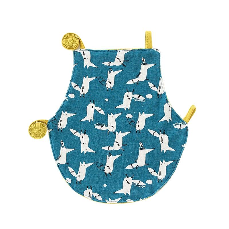 Mother & Kids Adjustable Baby Bibs Cartoon Apron Cute Animals Baby Nursery Room Baby Cartoon Feeding Cloth Apron With Adjustable Neck Straps