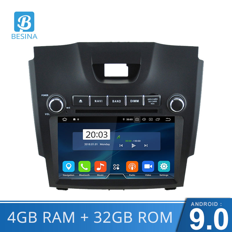 Besina 8 Inch 2 Din Car DVD Player For Chevrolet Trailblazer Colorado S10 4G Ram WIFI GPS Navigation Radio Auto audio 8 Cores