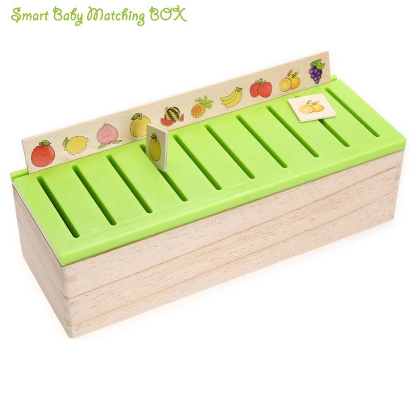 """""""Montessor"""" mediniai vaisių modeliai Klasifikuoti rungtynių žaislų klasifikaciją Juokingi dėžutės žaislai """"FResh Green Kids"""" modelio atitikimo mokymosi žaislas"""