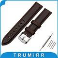13mm 18mm 20mm primeira camada do couro genuíno watch band para daniel wellington dw fivela de aço inoxidável pulseira de pulso pulseira cinto