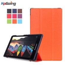 Top tab3 8 bolsa protectora flip pu leather book case para lenovo Tab 3 8 8.0 Pulgadas TB3-850F/TB3-850M Tablet PC Cubierta Del Soporte titular