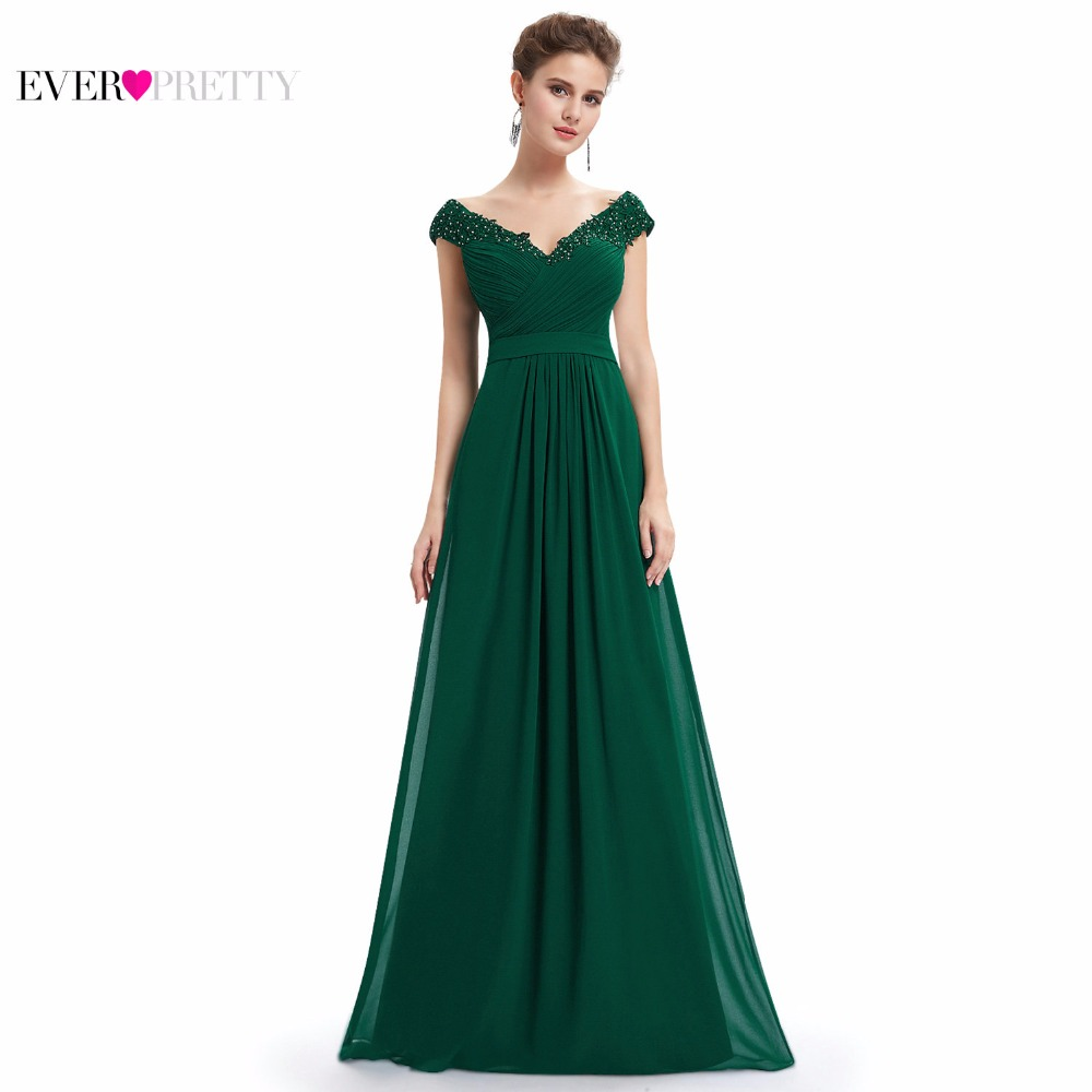 Ever Pretty Evening Dresses EP08633 Women Elegant Sexy Beading Deep V neck  Long Evening Gown 2018 Chiffon Dress robe de soiree-in Evening Dresses from  ... 9ccea8dba