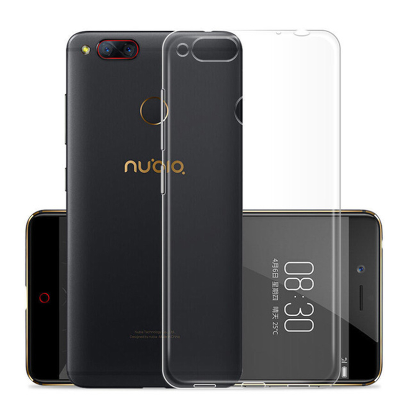 For <font><b>Zte</b></font> <font><b>Nubia</b></font> Z11 <font><b>MiniS</b></font> Z17 <font><b>Mini</b></font> <font><b>S</b></font> N2 Max M2 Lite N3 V18 Case Crystal Silicon Back Cover On <font><b>Z</b></font> <font><b>11</b></font> 17 V 18 M 2 N 3 Transparent Tpu image