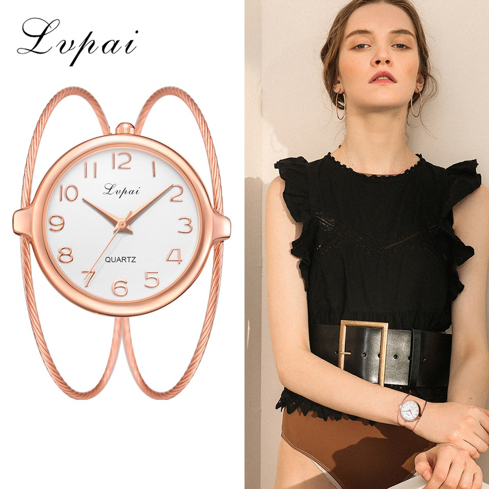 Women Fashion Luxury Watch Bracelet Quartz Dress Watches Rose Gold Small And Exquisite Lvpai Brand Ladies Casual Clock LP353 2017 new arrive lvpai brand rose gold women bracelet watch fashion simple quartz wrist watches ladies dress luxury gift clock